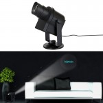 Blinblin Show 1 10W White Light DIY LED LOGO Projector Landscape Spotlight Lamp with 6 Patterns for Christmas, Halloween Party,