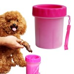 Pet Antiseptic Products Silicone Wash Feet Cleaning Cup Size: S (Red)