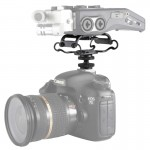 BOYA BY-C10 Universal Camera Microphone Shockmount with Hot Shoe Mount(Black)