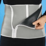 SLIMM NG BELT 5 Zipper Closures Adjustable Men Abdomen Belt, Total Length: 1.3m, Width: 24.5cm