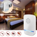 Electronic Ultrasonic Anti Mosquito Rat Insect Pest Repeller with Light, EU Plug, AC 110-220V