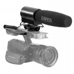 BOYA BY-DMR7 Shotgun Condenser Broadcast Microphone with LCD Display & Integrated Flash Recorder for Canon / Nikon / Sony DSLR C